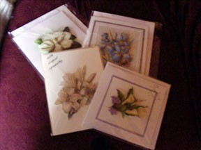 four flower cards
