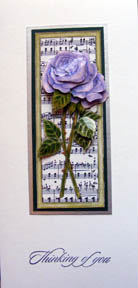 Rose & Music decoupage by Chris Williams