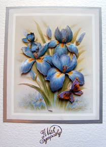 Blue floral decoupage by Chris Williams