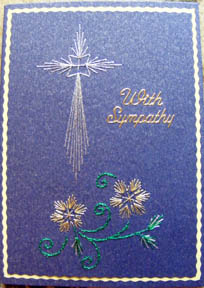 Cross in gold stitchwork by Diane