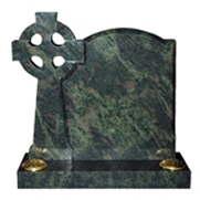 Green Granite with cross