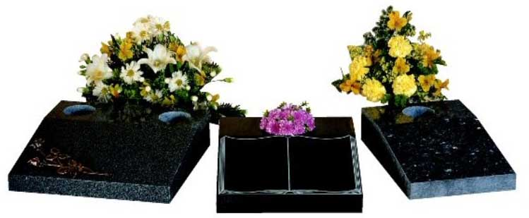 Stone for cremation plots