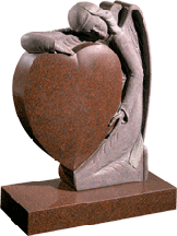 Red Granite Sleeping Angel Stone